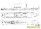 Generálny plán pôvodnej motorovej lode Štúr