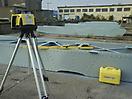 Príprava na štapelovanie - zameriavanie laserom