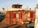 Nová takeláž nad kormidlovňou, reflektory a okenice